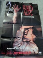 BURIED ALIVE (VIDEO DEALER FULL-SIZE 40 X  27 POSTER,1990) TIM MATHESON, AXTON