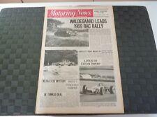 MOTORING NEWS 20 NOVEMBER 1969 BJORN WALDEGAARD,EMERSON FITTIPALDI,JEAN VINATIER