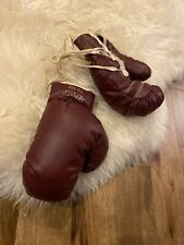 Vintage Spalding Golden Gloves Boxing Gloves Ox blood Red 73-181 Made in Usa