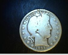 1892-0  Barber Half,  Average Circulated .3617 Oz Silver  (US-4259)