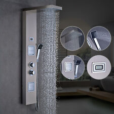 Duschpaneel Edelstahl Thermostat Regendusche Duscharmatur Duschsäule Duschset