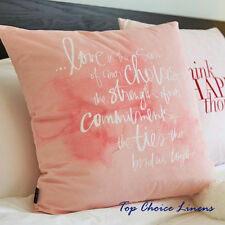 45cm x 45cm Super Soft Pink Decor Cushion Cover/Pillow Case