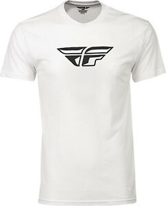 Fly Racing F-Wing T-Shirt 352-0614S S White