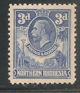Northern Rhodesia #5 (A1) VF MNH - 1925-29 3p King George V Elephants & Giraffe