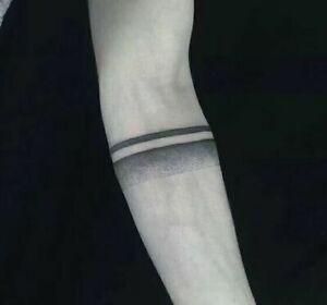 Black Armband Temporary Tattoo Sticker Waterproof Men Boys Arm Shoulder Large