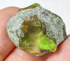 27.45Ct Ethiopian Crystal Black Opal Rough Clarity Enhanced YSJ3606