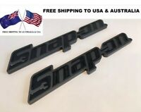*USA, AUS OFFER* TWO Black Snap On Tools EPIQ 3D Badges Tool Box Sticker Decal