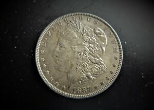 USA  SILVER MORGAN DOLLAR 1887  / SNIFF'S  ANCIENT COINS T-8
