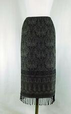 Talbots Women 4P Petite Gray Long Maxi Skirt 100% Wool Blanket Skirt Fully Lined