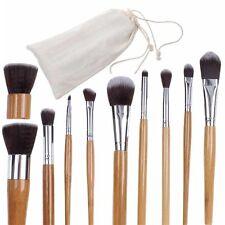 10Pcs Natural Bamboo Handle Makeup Cosmetic Powder Foundation Blend Brushes Set