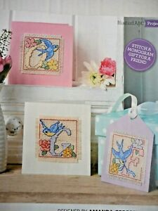 FLYING BLUEBIRDS ALPHABET, CROSS STITCH CHART. SELLING FOR CHARITY 🎁