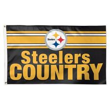 PITTSBURGH STEELERS COUNTRY 3'X5' DELUXE FLAG BRAND NEW FREE SHIPPING WINCRAFT
