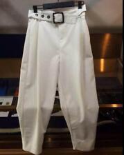 Mens Harem Pants Boot Cut Trousers Carpenter Belt Metallic Pants Summer Casual