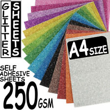 50X A4 250gsm Dense Colour Sparkle Glitter Card Range Premier Art + Craft Sheets