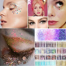 4Pcs Chunky Multi Mermaid Holographic Cosmetic Face EyeShadow Loose Glitter