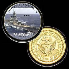 USS Missouri (BB-63) GP Challenge pinted Coin
