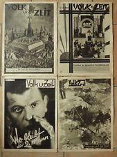 4 x alte Zeitschrift VOLK und ZEIT SPD SAJ gegen Nazis und Krieg 19331 ( F 17301