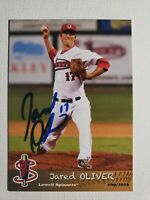 2016 Grandstand Jared Oliver Autograph Card Red Sox Lowell Spinners, Auto