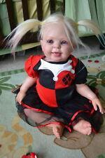 Ooak Reborn newborn real life  baby girl Harley Quinn Toddler 1  Baby  art doll