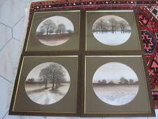 Bilder 4 Jahreszeiten -4 Bilder- im Holzrahmen
