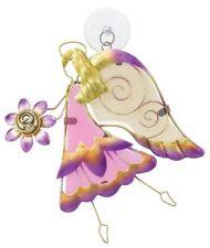 Angel Sun Catcher Regal Art, New, Hand Painted Glass, Purple Pink Gold Yellow