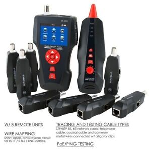 Noyafa NF-8601W Tracker-Leitungskabel Finder Tester LCD PING / POE LAN RJ11 RJ45