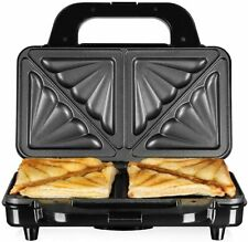 TOWER DEEP FILL DOUBLE SANDWICH MAKER STAINLESS STEEL TOASTIES 900W NON-STICK UK