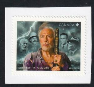 Canada 2021 Actor Christopher Plummer, MNH 'P' single from booklet