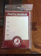 Alabama Crimson Tide Invitations  (10 Count With Envelopes)