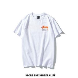 Herren Damen Stussy Rundhals T-Shirt Mit Kurzen Ärmeln Neues Schwarz Weiß Tshirt