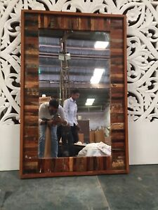 MADE TO ORDER Nirvana Reclaimed Indian Hand Made Wall Mirror Frame Large 80x120