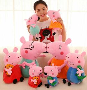 Hot Peppa Pig Schweine Peppa Wutz Familie Plüschtiere Plüsch Puppe Stofftier DE!