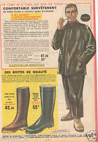 Publicité 1964 - Survêtement NYLFRANCE et bottes  - Manufrance