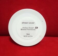 Sheer Cover PERFECT SHADE MINERAL FOUNDATION - DARK - (4g/0.14oz) Sealed New
