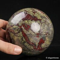 1704g 101mm Huge Natural Dragon Blood Stone Quartz Crystal Sphere Healing Ball