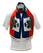 Haiti Flag Print Scarf NEW One-Size-Fits-All *FREE SHIPPING* Haitian Shawl Sash