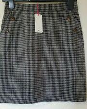 Kew Jigsaw Tartan Wool Blend Smart Pencil Skirt Size 8 XS