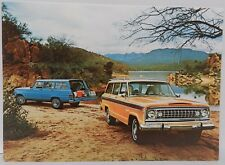 1974 74 QUADRA TRAC WAGONEER 360 JEEP 4X4 AMC DEALERSHIP DEALER PROMO POSTCARD
