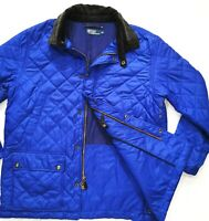 HOT Men's POLO RALPH LAUREN @ QUILTED BLANKET LINED - CASUAL BLUE COAT JACKET XL