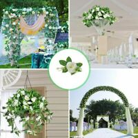 2.4m Long Silk Rose Flower Ivy Vine Leaf Garland Wedding Party Home Decor