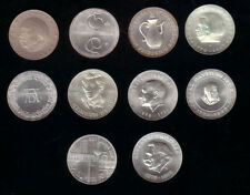 10 mal 10 Mark Gedenkmünzen Silber 1967 - 1975