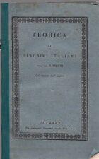 TEORICA DE SINONIMI ITALIANI DELL'ABATE G.ROMANI GABINETTO LETTERARIO (TA820)