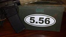 "0024     5.56 oval 8"" x 3.5"" decal sticker"