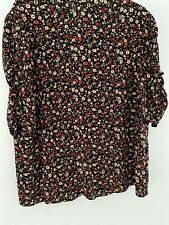New Look Floral Ruched  Puff Sleeve Top 16