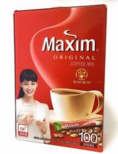 Korean Maxim Original Instant Coffee Mix (11.8 g*100 T) USA_Seller + Free Gifts