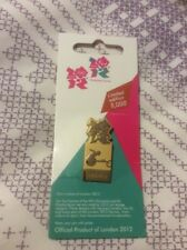 Olympics London 2012 Pin Badge Gold Pictograms Paralympic Athletics Wheelchair