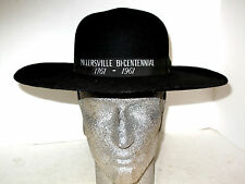 VINTAGE 1761-1961 MILLERSVILLE BI-CENTENNIAL BLACK WOOL WIDE BRIM HAT PEERLESS
