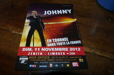 JOHNNY HALLYDAY - Flyer !!! NOVEMBRE 2012 !!!