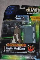 STAR WARS POWER OF THE FORCE ELECTRONIC BEN OBI-WAN KENOBI GLOWING SABER MOSC