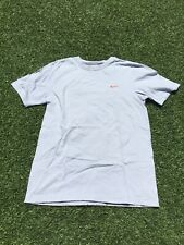 Nike Regular Fit T Shirt Embroidered Orange Swoosh Blue Shirt Essential Tee